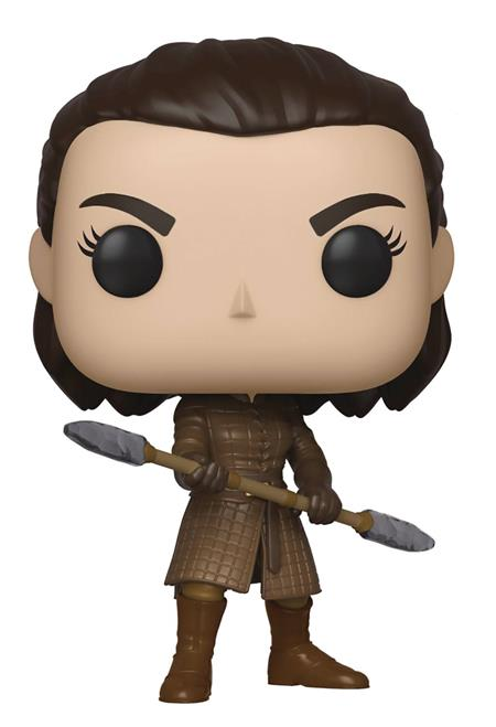POP TV GAME OF THRONES ARYA W/TWO HEADED SPEAR VINYL FIG (C: