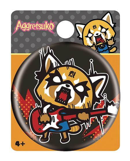 AGGRETSUKO ROCK OUT BUTTON PIN (C: 1-1-2)