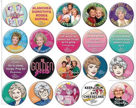 GOLDEN GIRLS 144PC BUTTON DIS (C: 1-1-2)