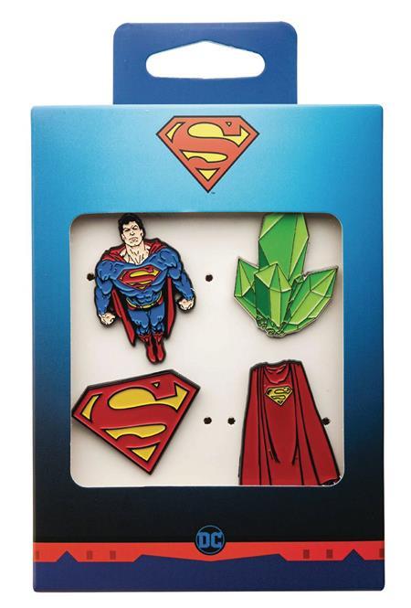 SUPERMAN 4PC BOXED PIN SET (C: 1-1-2)
