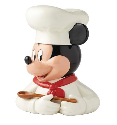 DISNEY CHEF MICKEY MOUSE CERAMIC COOKIE JAR (C: 1-1-2)