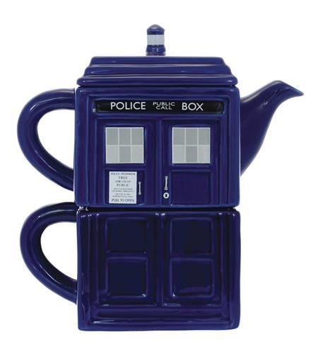 DOCTOR WHO TEA-4-ONE STACKING TARDIS MUG SET
