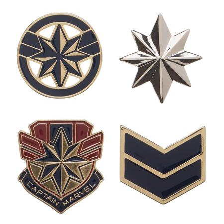 CAPTAIN MARVEL 4PC LAPEL PIN SET (C: 1-0-2)