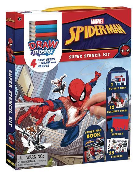 MARVEL DRAWMASTER SPIDER-MAN STENCIL KIT (C: 1-1-2)