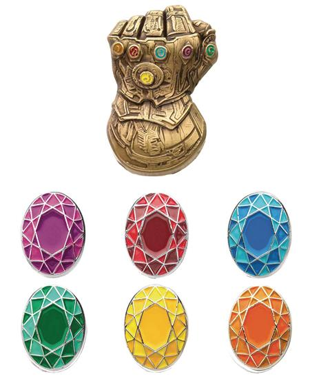 MARVEL HEROES THANOS INFINITY GAUNTLET BOXED PIN SET (C: 1-1
