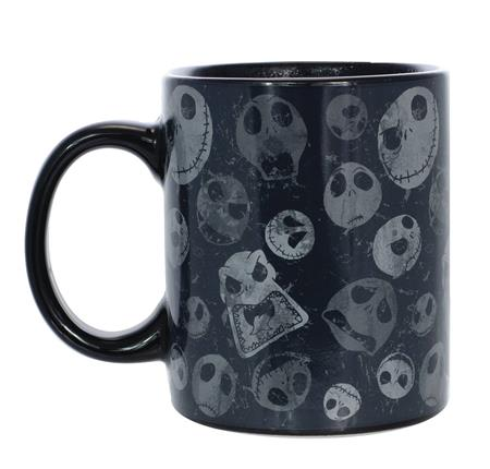 NBX ALL OVER JACK HEAD BLACK HEAT REVEAL MUG