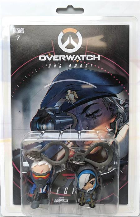 OVERWATCH ANA & SOLDIER 76 COMIC BOOK BACKPACK CLIP 2 PACK (