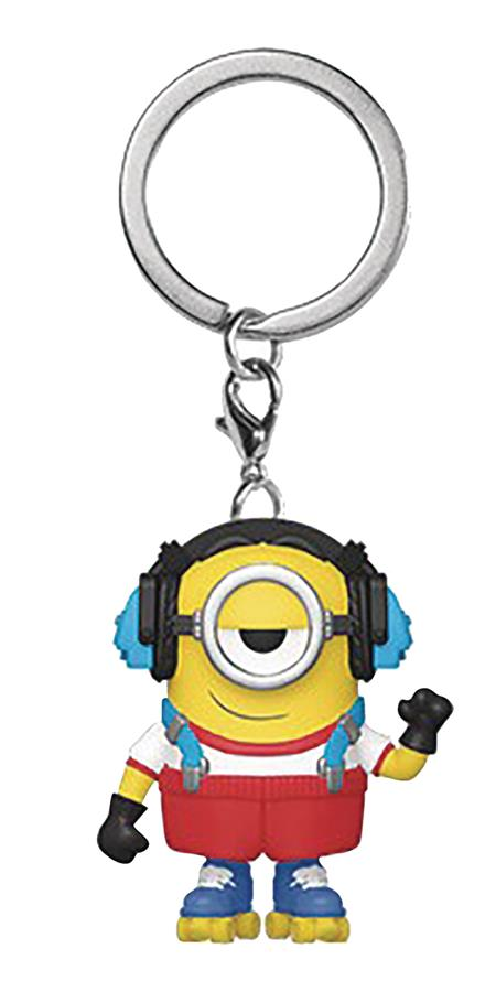 POCKET POP MINIONS 2 ROLLER SKATING STUART FIG KEYCHAIN (C: