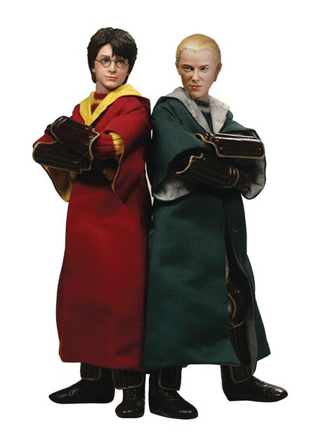 HP CHAMBER SECRETS HARRY & DRACO 1/6 AF CHILD QUIDDITCH 2PK