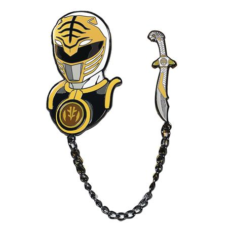 POWER RANGERS WHITE RANGER ENAMEL PIN (C: 0-1-2)