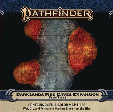 PATHFINDER FLIP TILES DARKLANDS FIRE CAVES