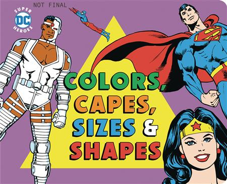 COLORS & CAPES SIZES & SHAPES BOARD BOOK (C: 0-1-0)