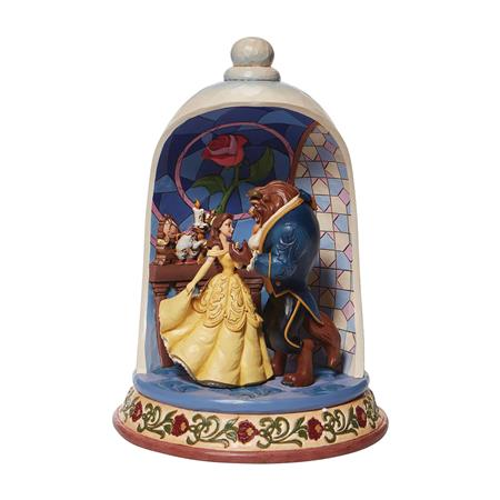 DISNEY TRADITIONS BEAUTY & THE BEAST DOME 10.3IN STATUE (C: