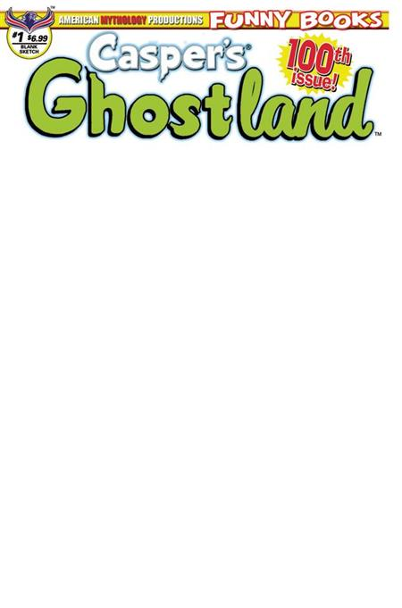 CASPERS GHOSTLAND #1 100TH ISSUE ANNIVERSARY BLANK SKETCH CV