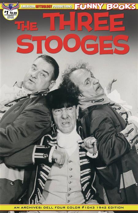 THREE STOOGES FOUR COLOR 1942 #1 LTD ED B&W PHOTO CVR