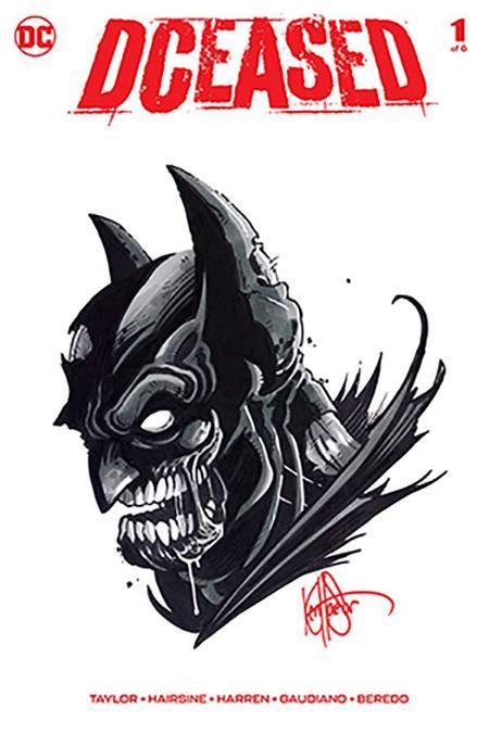 DF DCEASED #1 SGN RMRK HAESER BATMAN SKETCH