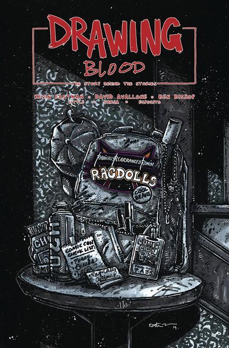 DRAWING BLOOD SPILLED INK #4 (OF 4) CVR B EASTMAN (MR)