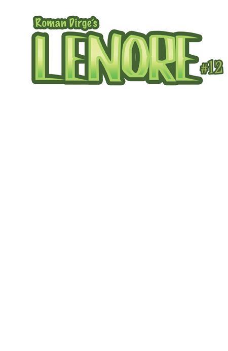 LENORE VOLUME III #1 CVR C BLANK