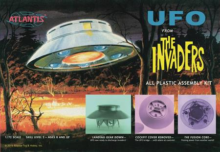 INVADERS UFO 1/72 SCALE MODEL KIT (C: 1-1-1)