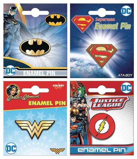DC COMICS ENAMEL PIN 12CT ASST (C: 1-1-1)