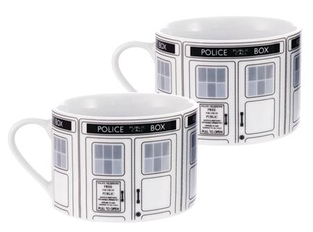 DOCTOR WHO I AM /TARDIS TEA CUP 2PK SET