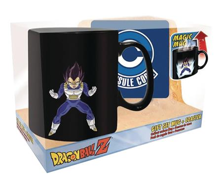 DRAGON BALL Z VEGETA MAGIC MUG AND COASTER SET (C: 1-1-2)