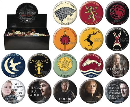 GAME OF THRONES 144PC BUTTON DIS WAVE 1 (C: 1-1-1)