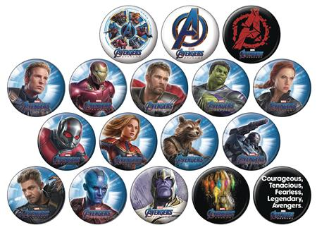 AVENGERS ENDGAME 144PC BUTTON DIS (C: 1-1-1)