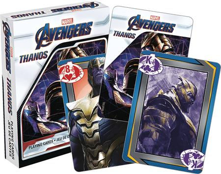 MARVEL AVENGERS ENDGAME THANOS PLAYING CARDS (C: 1-1-2)