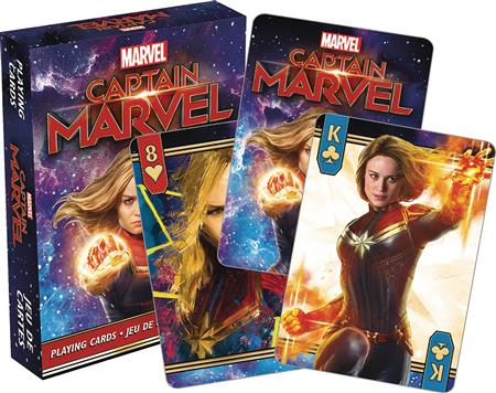 MARVEL CAPTAIN MARVEL MOVIE PLAYING CARDS (C: 1-1-2)