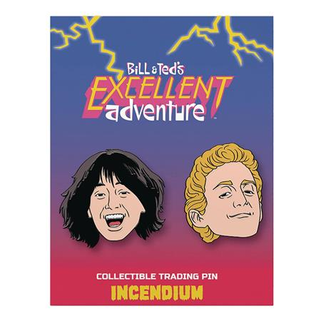 BILL AND TEDS EXCELLENT ADVENTURE LAPEL PIN SET A (C: 1-1-2)