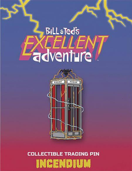 BILL AND TEDS EXCELLENT ADVENTURE PHONE BOOTH LAPEL PIN (C: