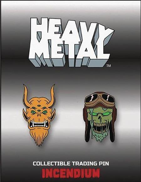HEAVY METAL LAPEL PIN SET B (C: 1-1-2)
