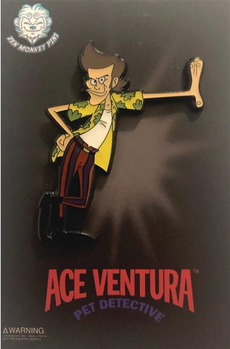 ACE VENTURA CARTOON ACE LEARNING PIN (C: 1-1-2)