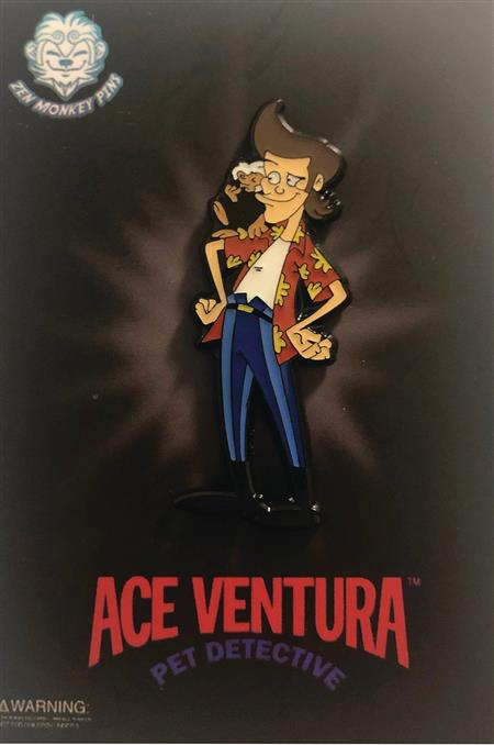 ACE VENTURA CARTOON ACE WITH SPIKE PIN (C: 1-1-2)