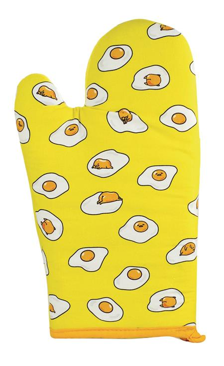GUDETAMA ALL OVER PRINT EGG YELLOW OVEN MITT