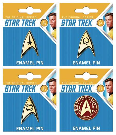 STAR TREK ENAMEL PIN 12CT ASST (C: 1-1-1)
