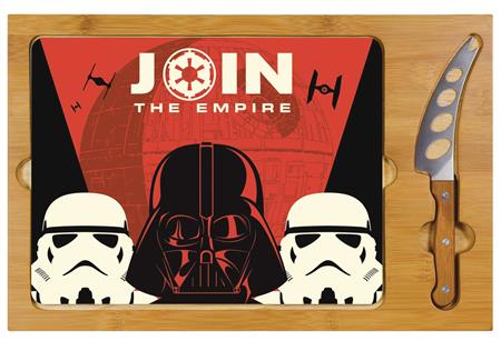 STAR WARS EMPIRE ICON GLASS TOP TRAY AND KNIFE SET (C: 1-1-2