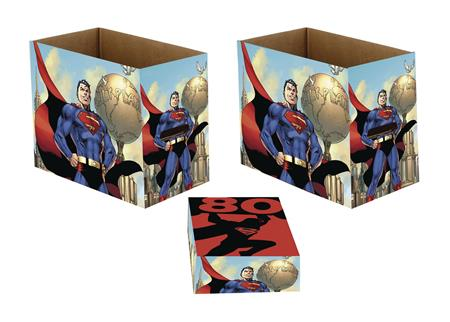 DC SUPERMAN 80 5PK SHORT COMIC STORAGE BOX (C: 1-1-2)