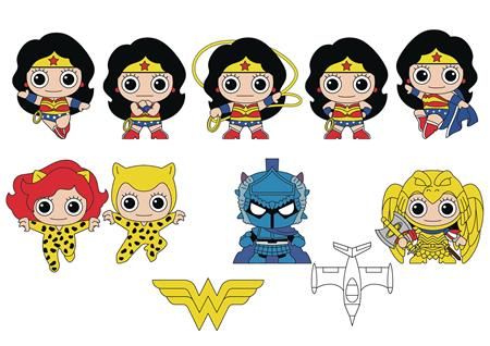 WONDER WOMAN CLASSIC 3D FOAM BAG CLIPS 24PC BMB DS (C: 1-1-2