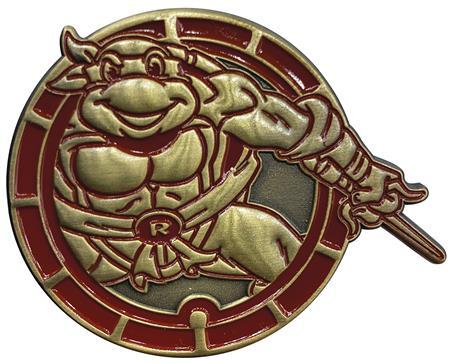 TMNT RAPHAEL ANTIQUE GOLD NUMBERED PIN (C: 1-1-2)