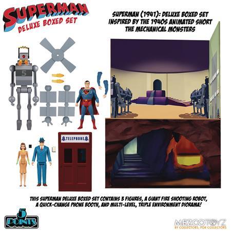 5 POINTS SUPERMAN MECHANICAL MONSTERS 1941 AF DLX BOX SET (N