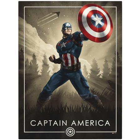 CAPTAIN AMERICA POSING WOOD WALL ART (C: 1-1-2)