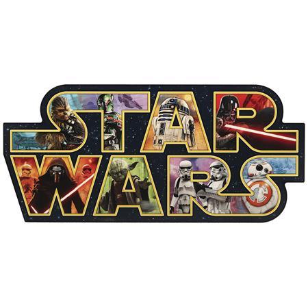 STAR WARS CAST LOGO COLLAGE WOOD WALL ART (C: 1-1-2)