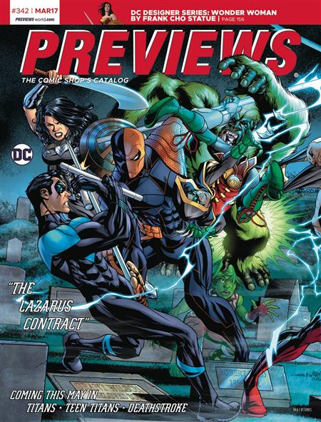PREVIEWS #344 MAY 2017 (Net)  Includes a FREE Marvel Previews