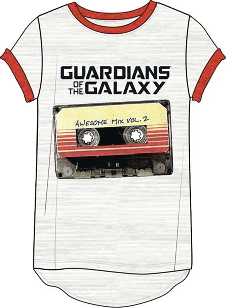 GOTG V2 AWESOME MIX TAPE HI-LOW WOMENS T/S MED (Net) (C: 1-1