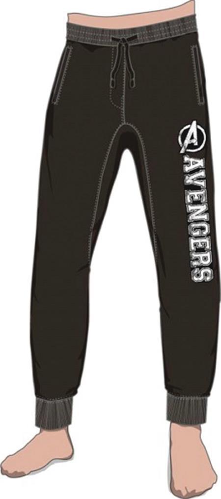 MARVEL AVENGERS BLACK JOGGER PANT LG (Net) (C: 1-1-2)