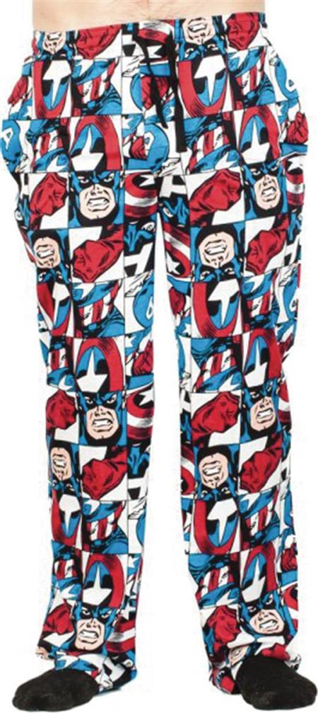 MARVEL CAPTAIN AMERICA ALL OVER PRINT SLEEP PANT LG (Net) (C