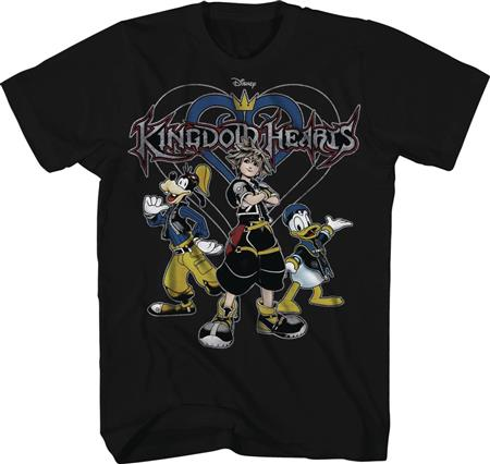 KINGDOM HEARTS KINGDOM ROCKS BLACK T/S LG (C: 1-1-1)