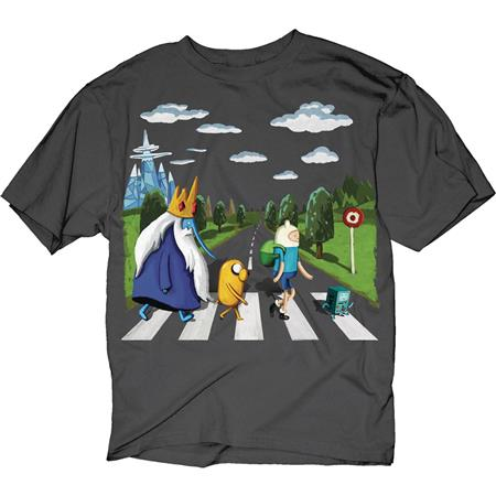 ADVENTURE TIME LAND OF OOO LANDSCAPE CHARCOAL T/S MED (C: 1-